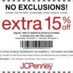 Jcpenney 15 Printable Coupons
